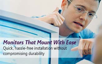 Durable industrial monitors that are easy to mount