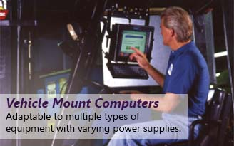 Vehicle mount computers adapt to varying power supplies